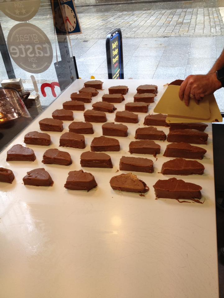 New franchisees making their first batch of fudge for Shrewsbury