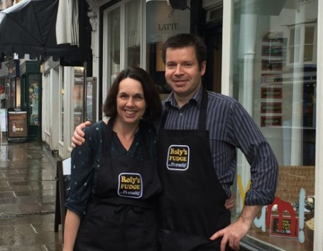 Andy and Kate - Roly's Fudge Stratford-upon-Avon