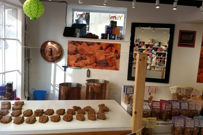 Roly's Fudge Padstow - inside the shop