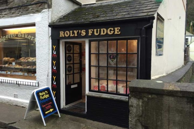 Outside Roly's Polperro