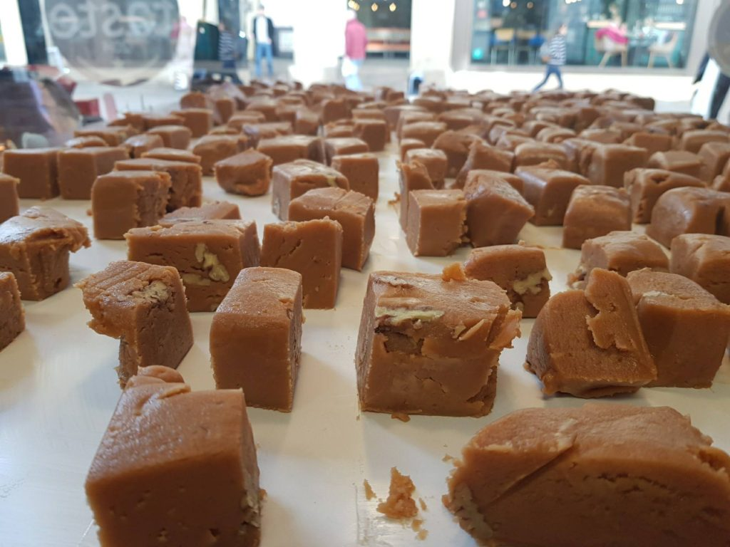 vegan fudge being made