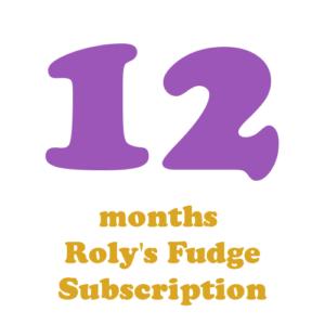 12 months fudge subscription