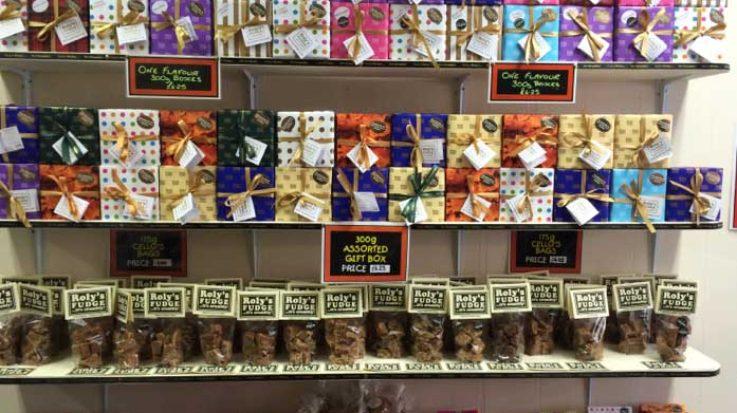 Roly's Exeter Fudge Display