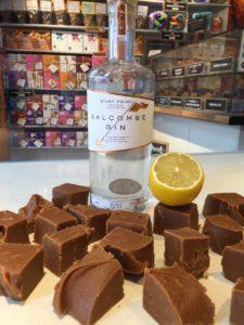 Salcombe Gin and Lemon Fudge