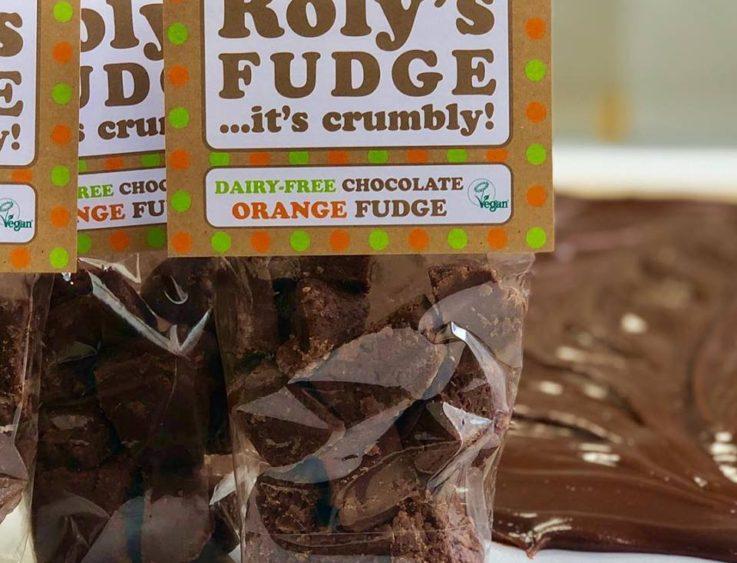 Roly's Fudge dairy-free vegan chocolate orange tenby