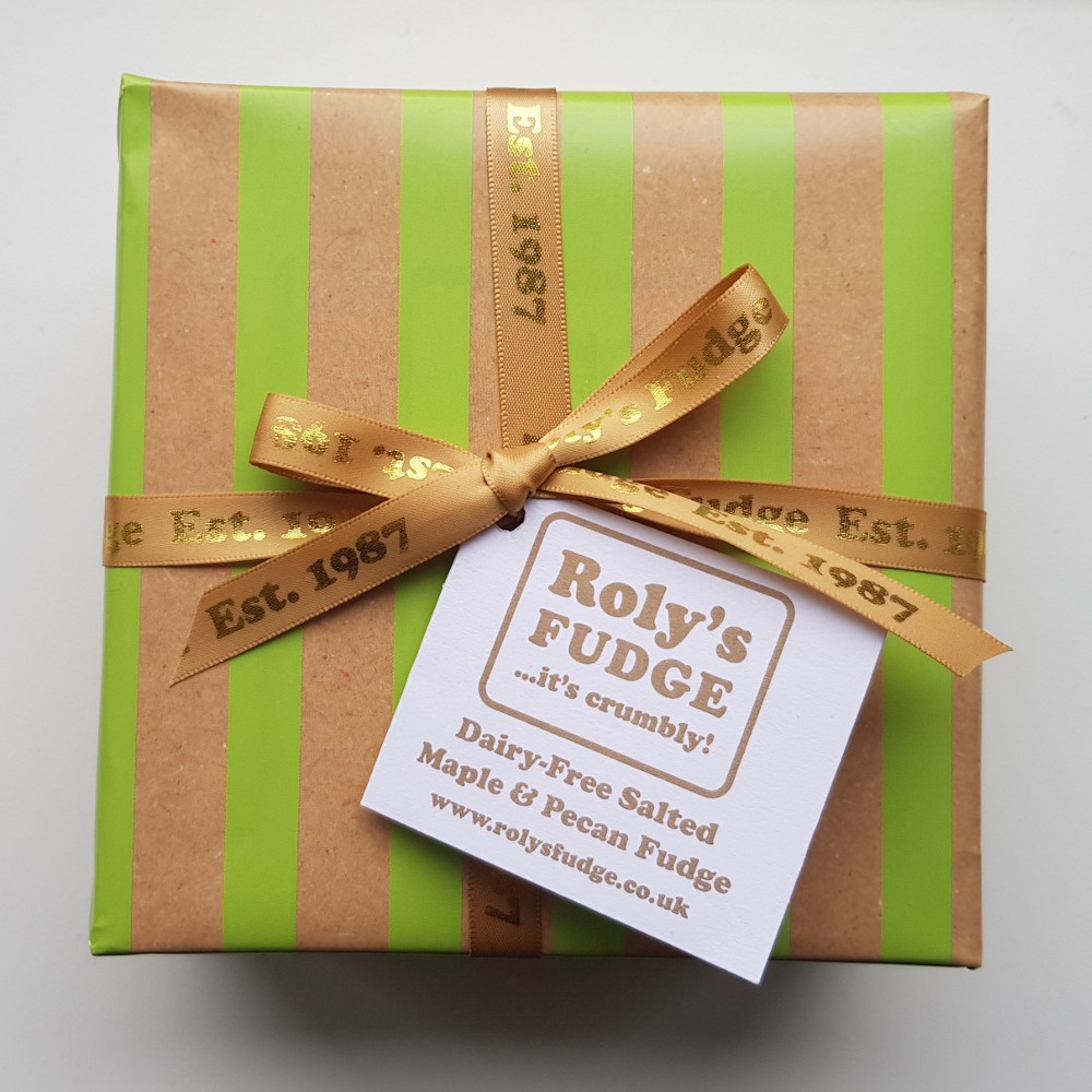 Dairy-Free Salted Maple & Pecan Fudge - Vegan Society accredited