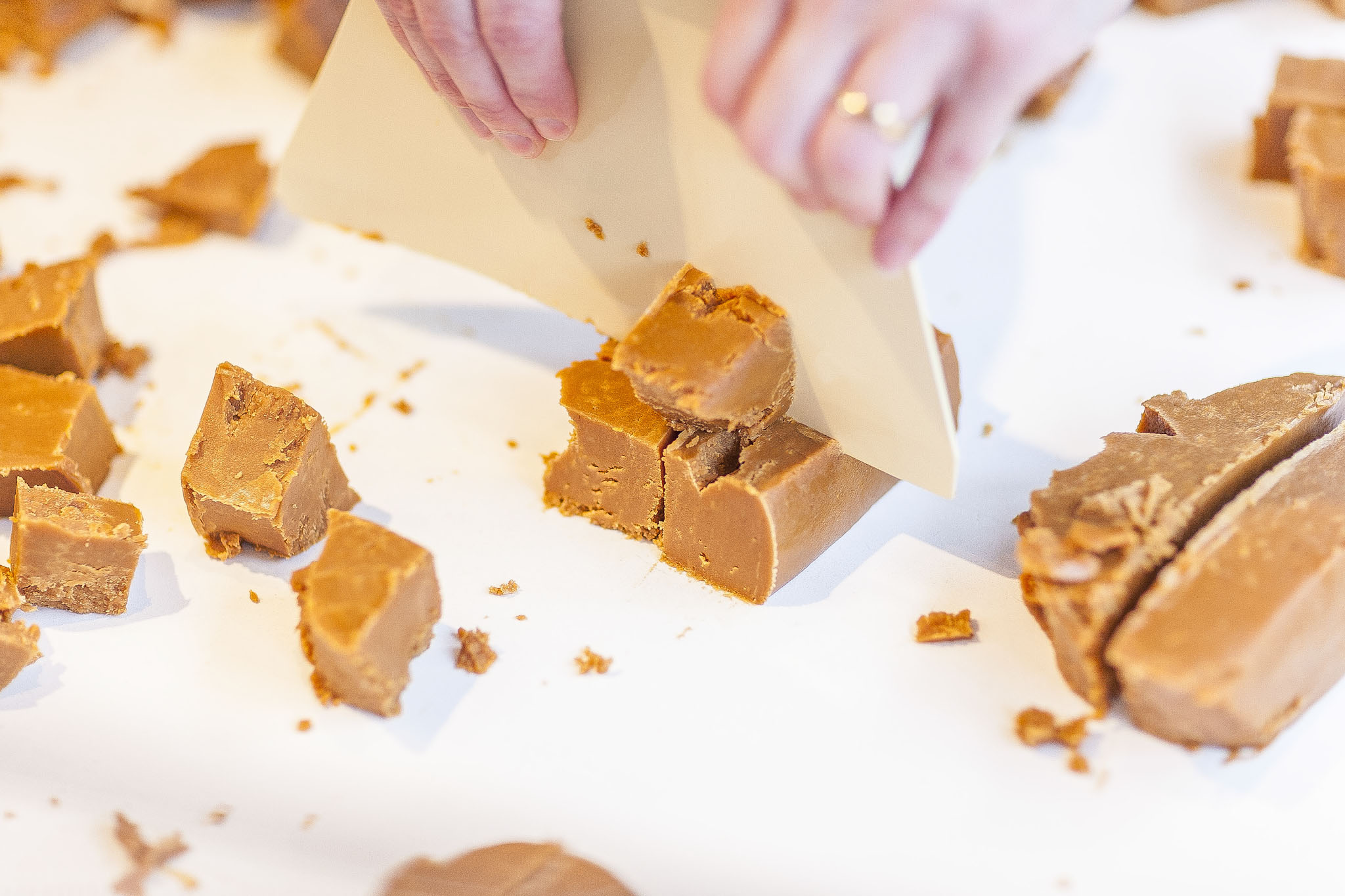 Step 5 - Cutting our fudge