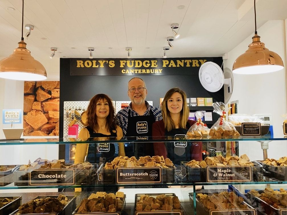 The franchisees in Roly's Fudge Canterbury