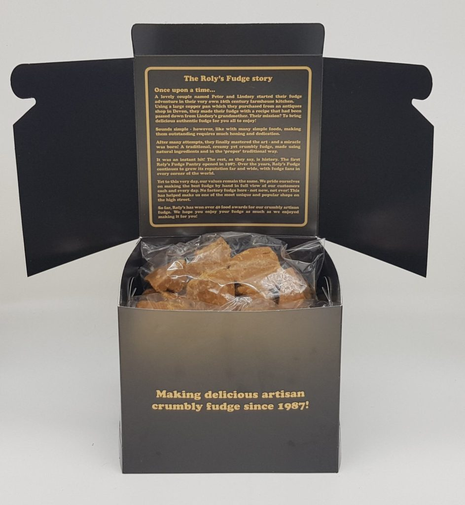 An example of our 1.5kg fudge club boxes - 5 flavours for you to enjoy!